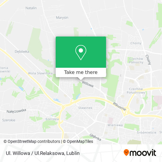 Ul. Willowa / Ul.Relaksowa map