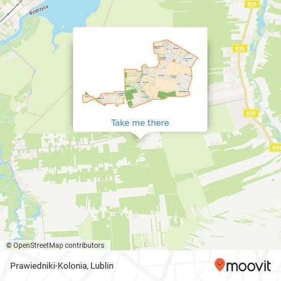 Prawiedniki-Kolonia map