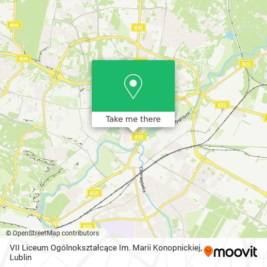 VII Liceum Ogólnokształcące Im. Marii Konopnickiej map