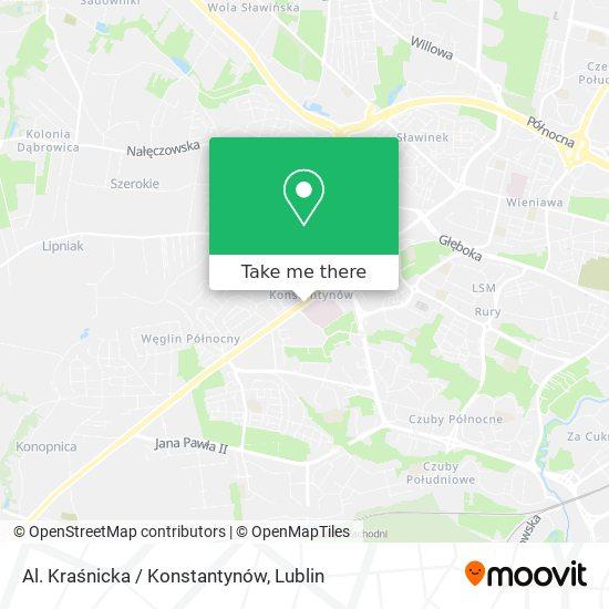 Al. Kraśnicka / Konstantynów map
