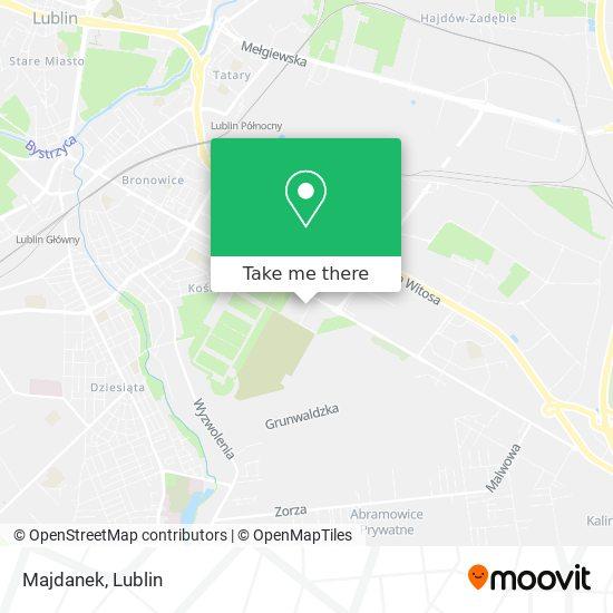 Majdanek map
