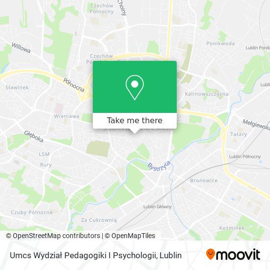 Umcs Wydział Pedagogiki I Psychologii map