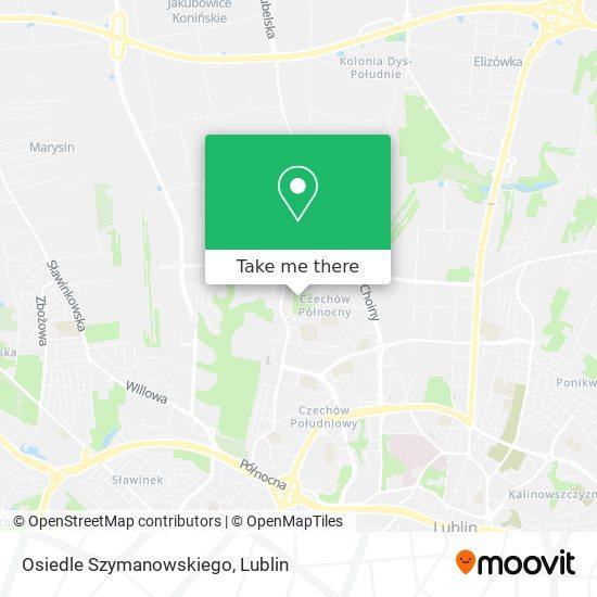 Osiedle Szymanowskiego map