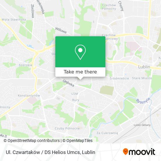 Карта Ul. Czwartaków / DS Helios Umcs
