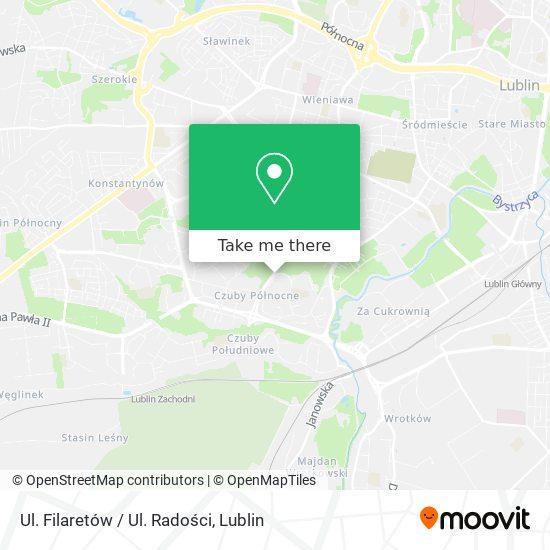 Ul. Filaretów / Ul. Radości map