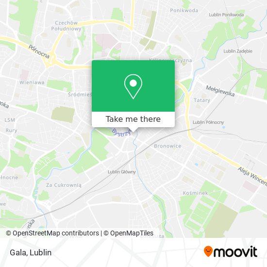 Карта Gala