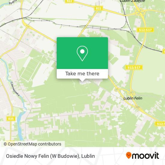Карта Osiedle Nowy Felin (W Budowie)