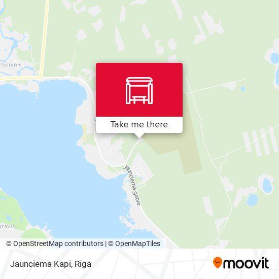 Jaunciema Kapi map