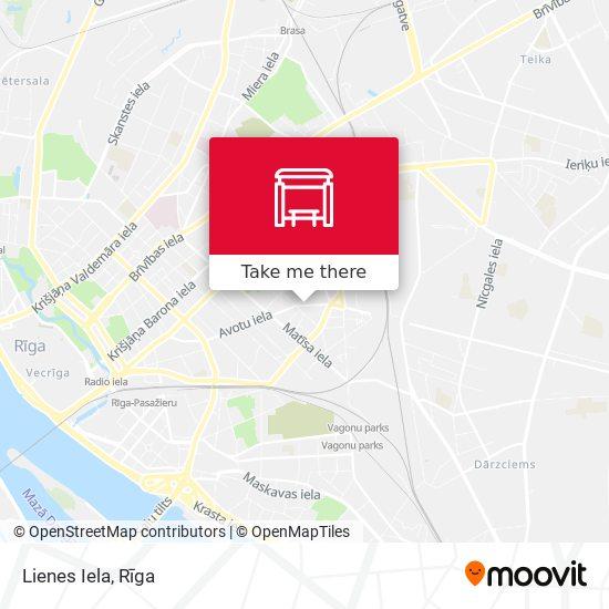 Lienes Iela map