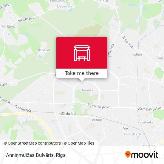 Anniņmuižas Bulvāris map