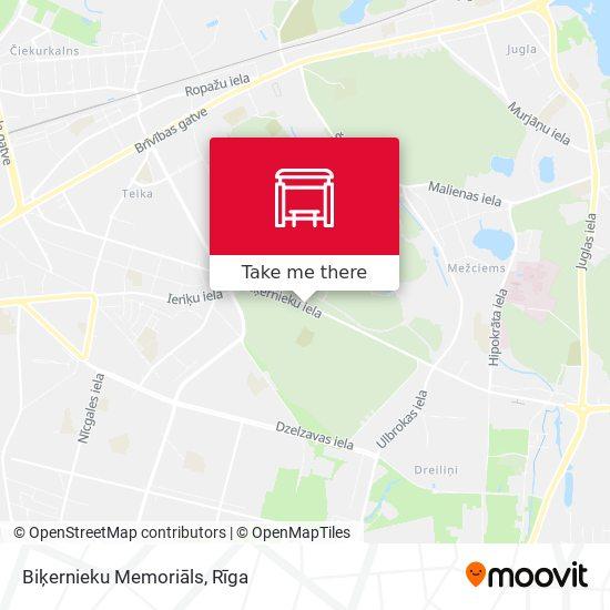 Biķernieku Memoriāls map