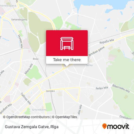 Gustava Zemgala Gatve map