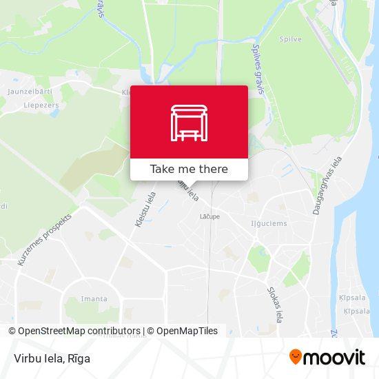 Virbu Iela map
