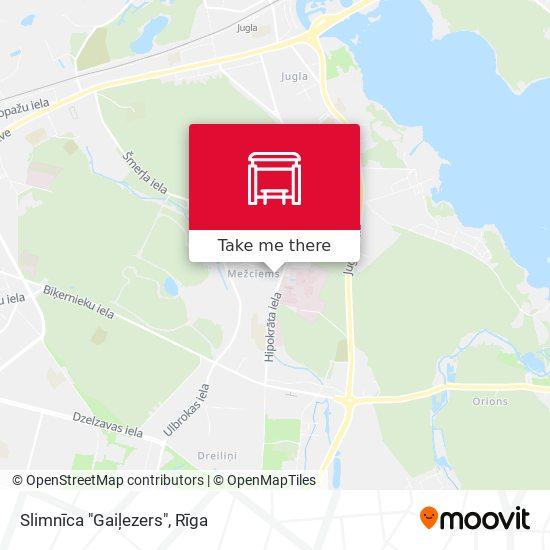 """Slimnīca """"Gaiļezers"""" map"""