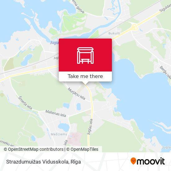 Strazdumuižas Vidusskola map