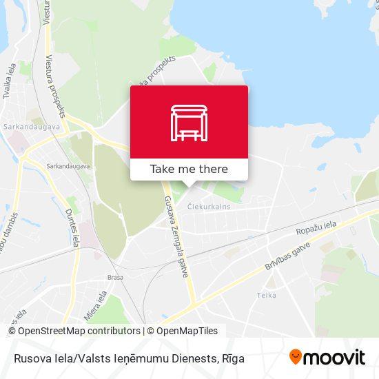 Rusova Iela / Valsts Ieņēmumu Dienests map