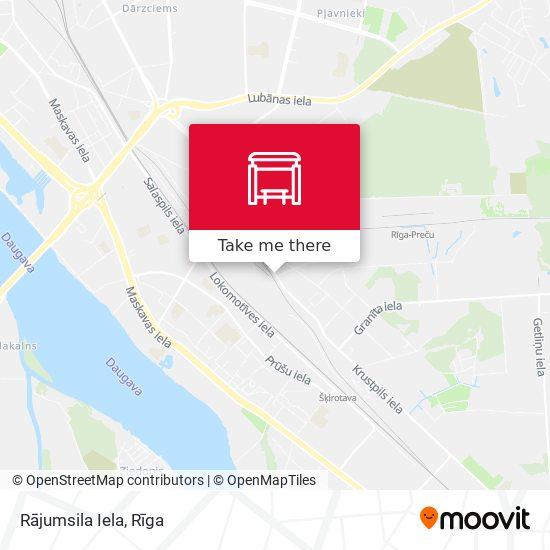 Rājumsila Iela map