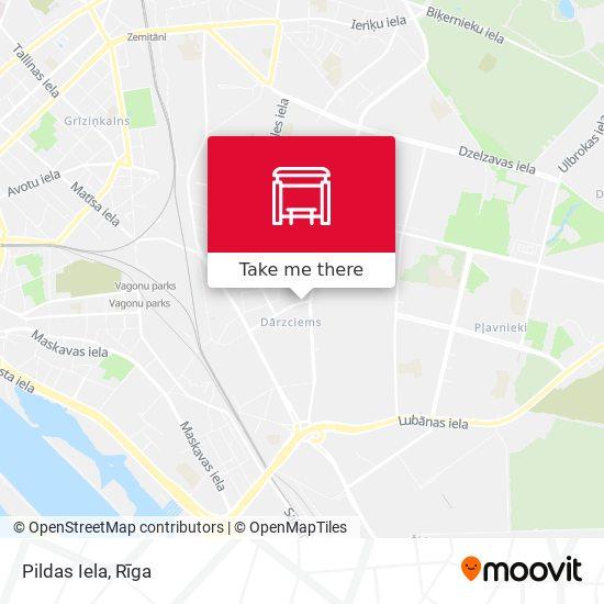 Pildas Iela map