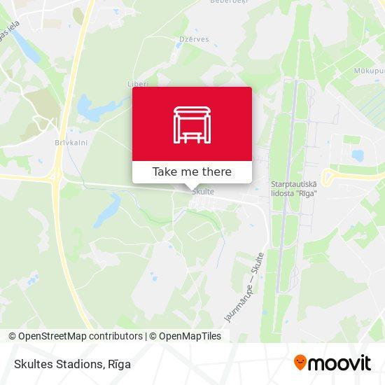 Skultes Stadions map