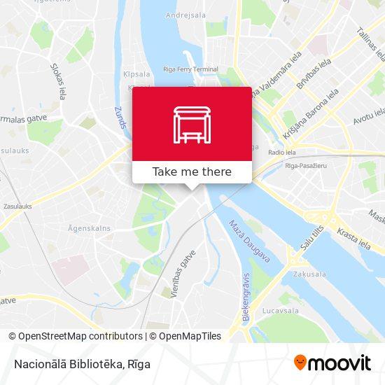 Nacionālā Bibliotēka map