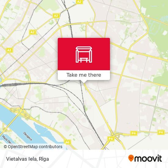 Vietalvas Iela map