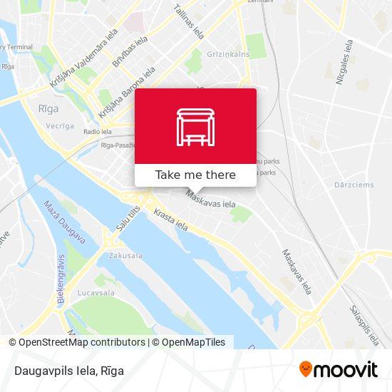 Daugavpils Iela map