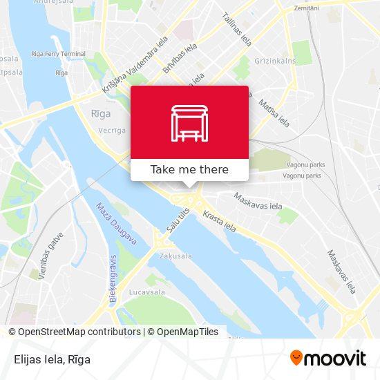 Elijas Iela map