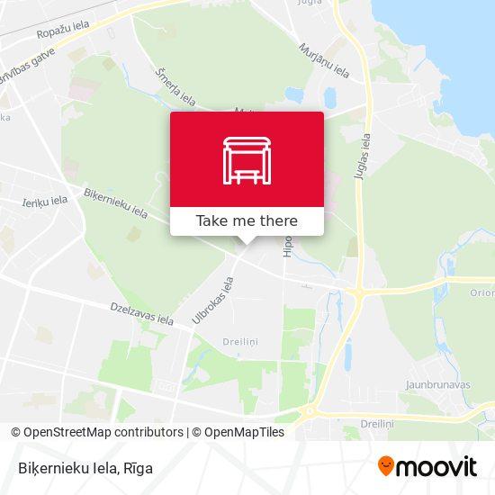 Biķernieku Iela map