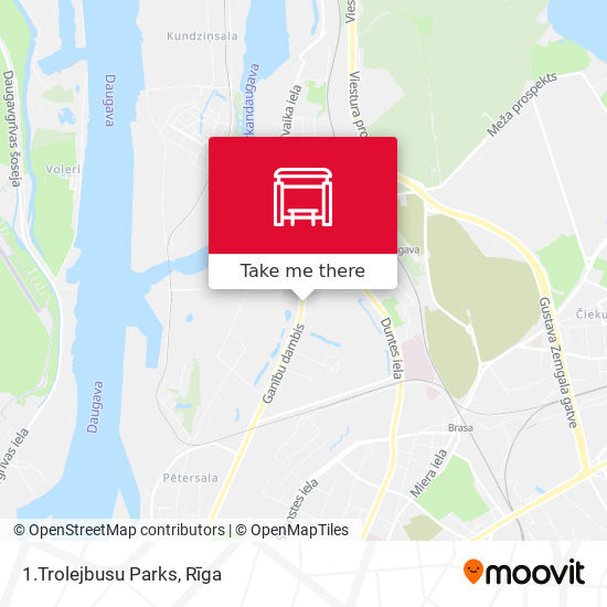 1.Trolejbusu Parks map