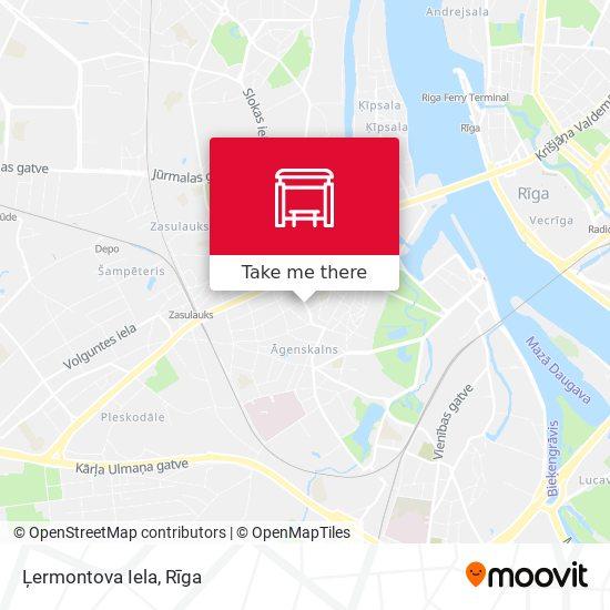 Ļermontova Iela map