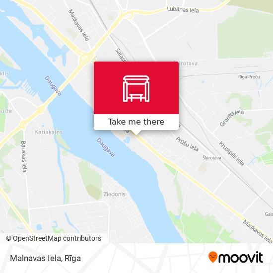 Malnavas Iela map