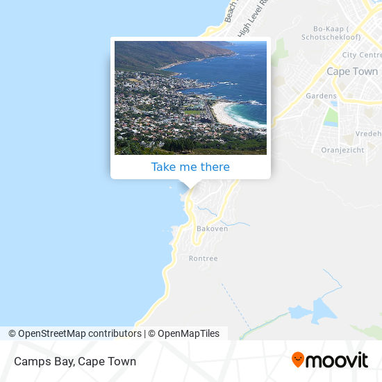 Camps Bay map