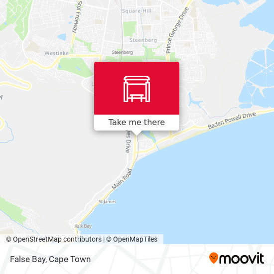 False Bay map