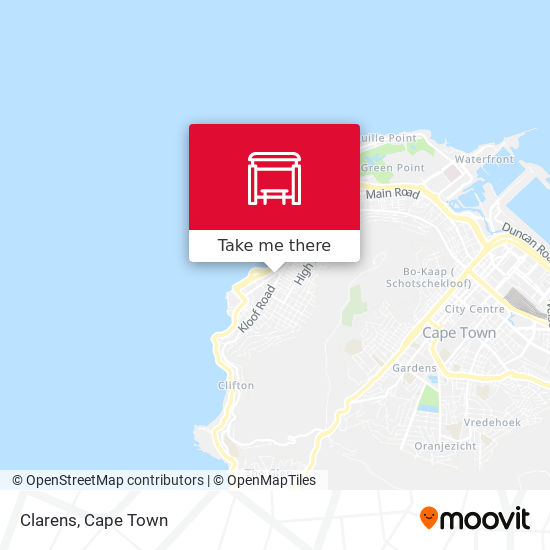 Clarens map
