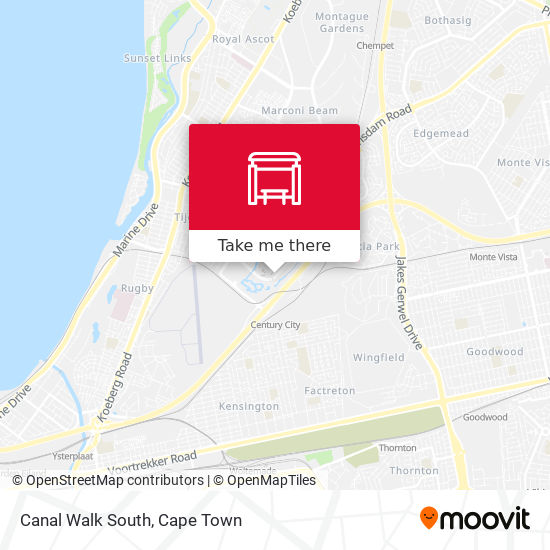 Canal Walk South map