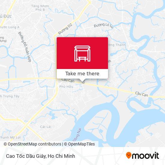 Cao Tốc Dầu Giây地圖