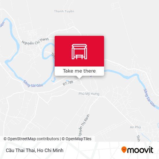 Cầu Thai Thai map