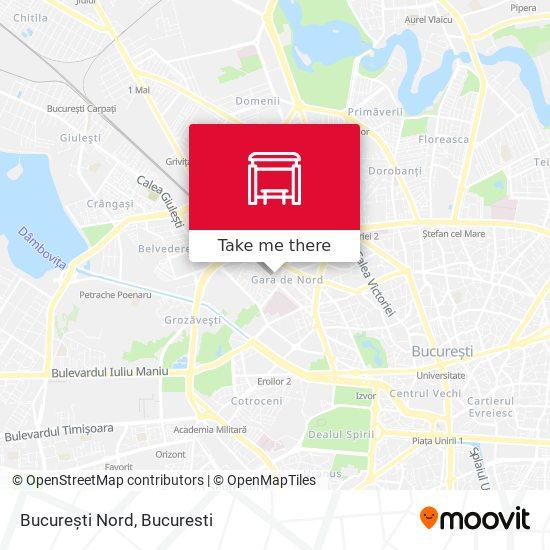 București Nord map