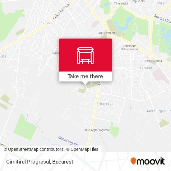 Cimitirul Progresul map