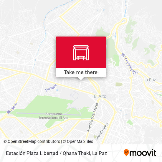 Estación Plaza Libertad / Qhana Thaki map