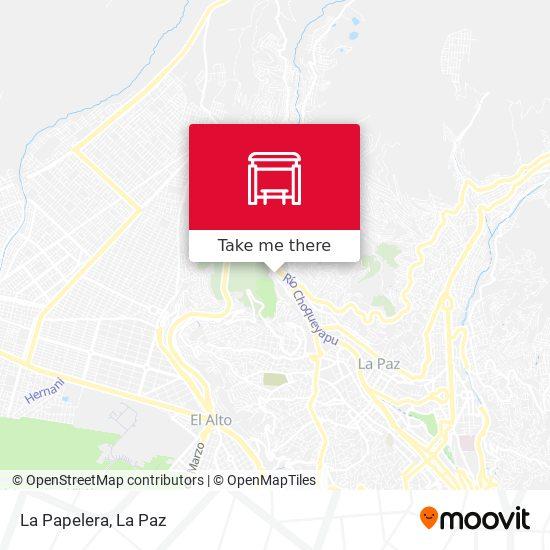 La Papelera map