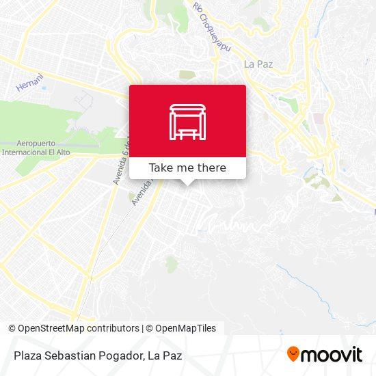 Plaza Sebastian Pogador map