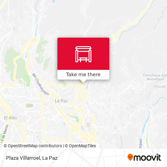 Plaza Villarroel map