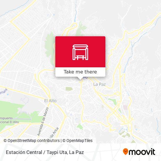 Estación Central / Taypi Uta map