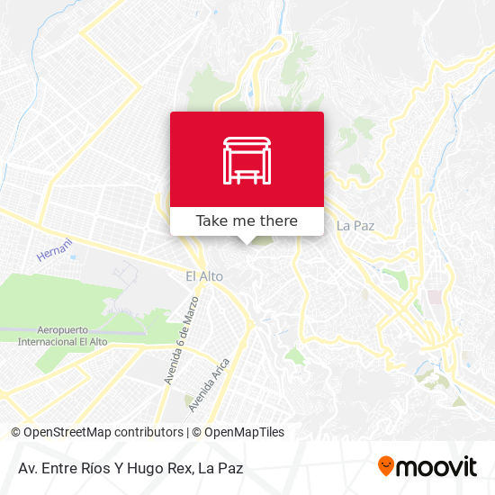 Av. Entre Ríos Y Hugo Rex map