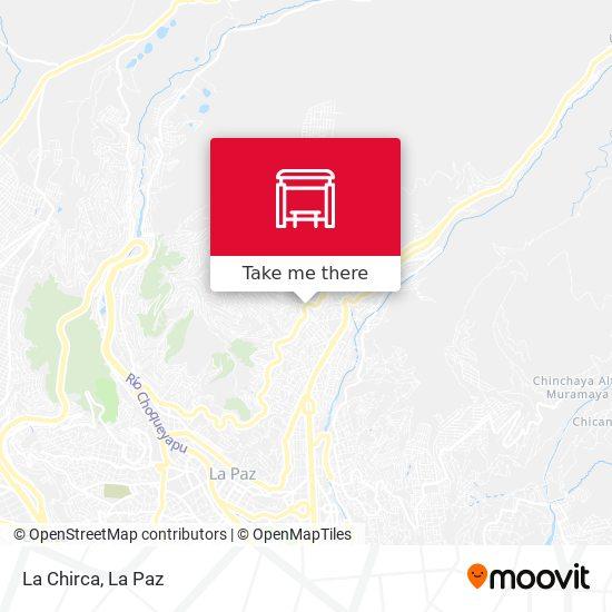 La Chirca map