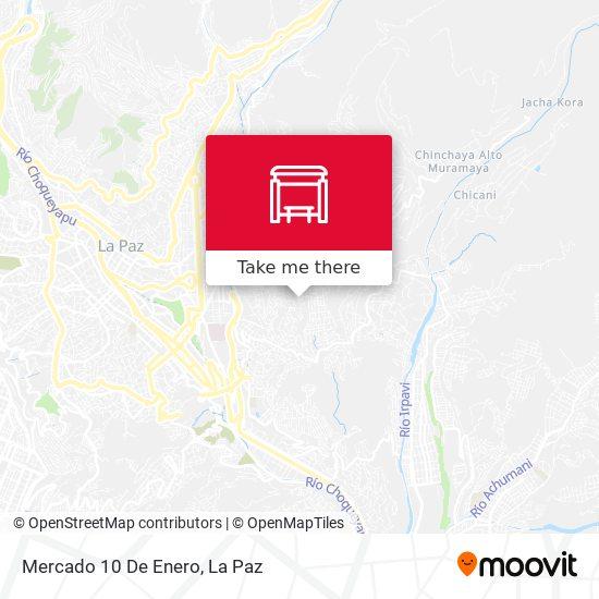 Mercado 10 De Enero map