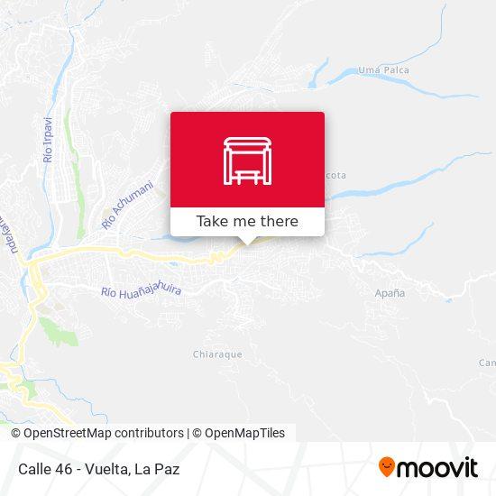 Calle 46 - Vuelta map