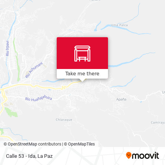 Calle 53 - Ida map