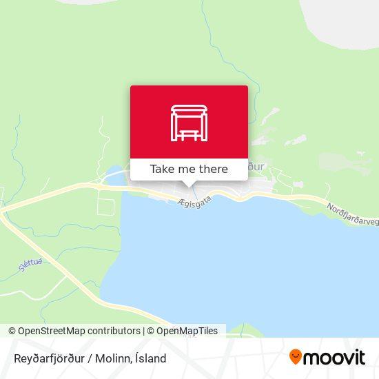 Reyðarfjörður / Molinn map